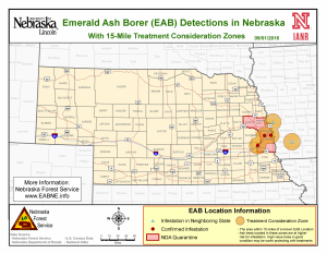 Nebraska EAB Map